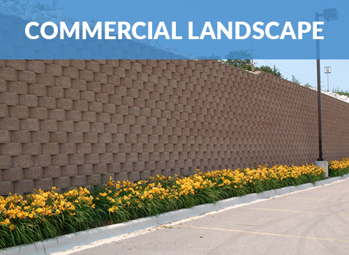 Landscape block retaining wall